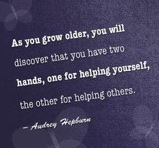 www.alysonhorcher.com, alysonhocher@gmail.com, www.facebook.com/alyson.horcher, monday motivation, never miss a monday, be positive, what consumes your mind controls your life, audrey hepburn quotes, as you grow older you will discover that you have two hands, one for helping yourself, the other for helping others