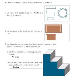 Respuestas Apoyo Primaria Desafíos matemáticos 4to grado Bloque I lección 15 ¿Cómo se ven?