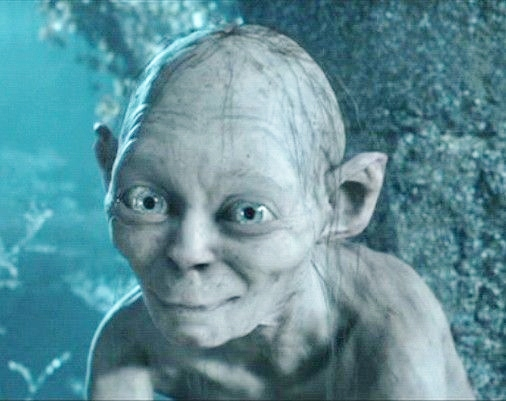 image gallery smeagol smiling