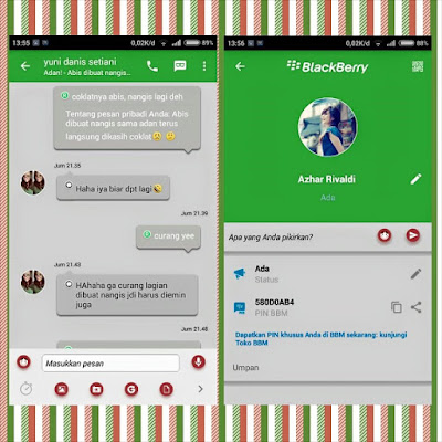Preview BBM Green Moment V2.10.0.31