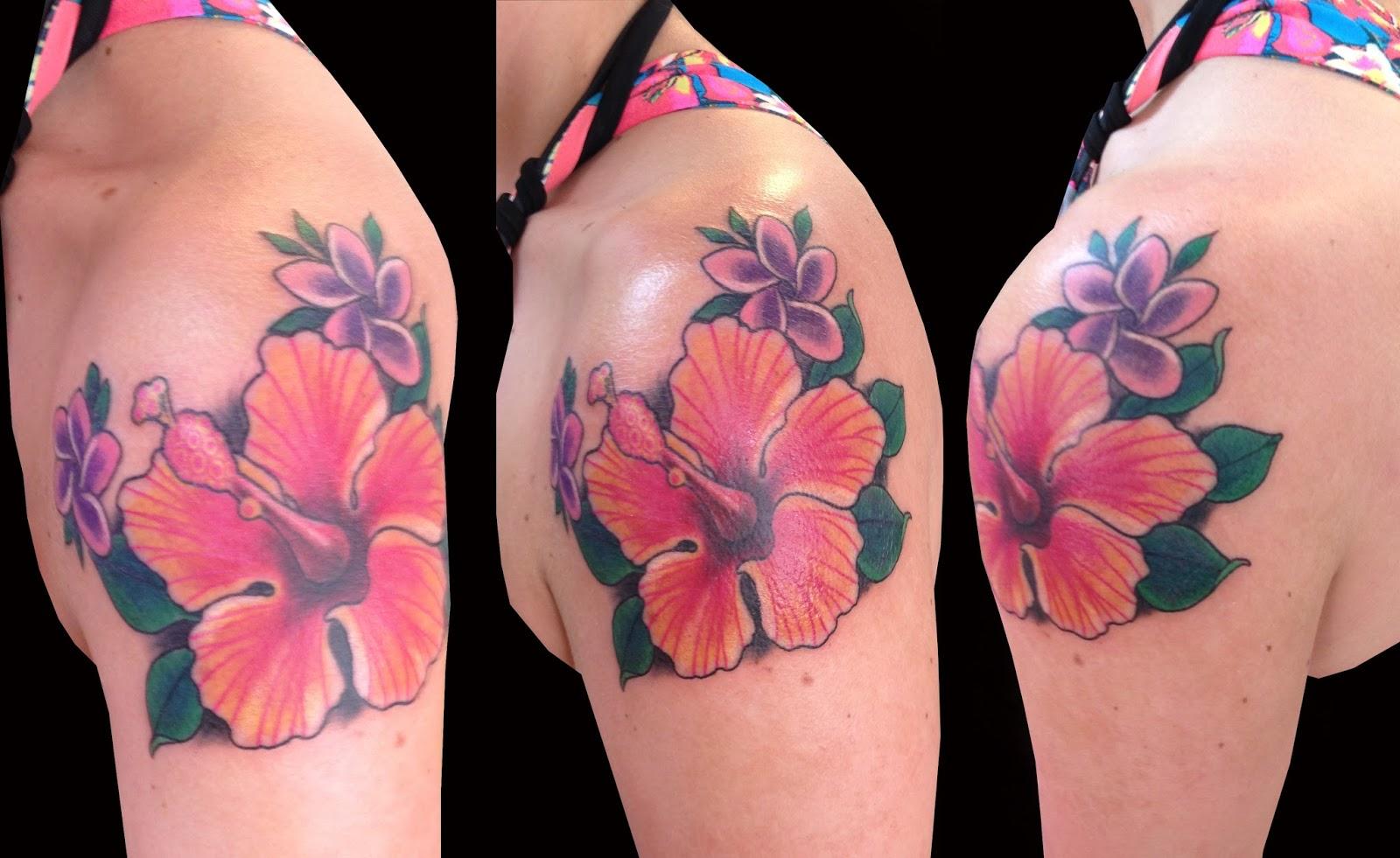 Sweet trade tattoo maui purple plumerias hibiscus purple plumerias hibiscus izmirmasajfo