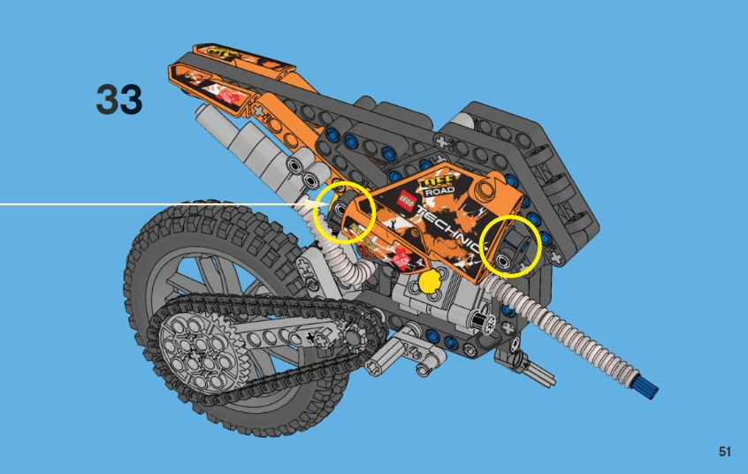 Lego Technic Motorcycles Instructions For The New 42007 Moto Cross Bike