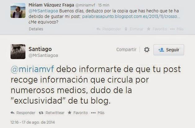 Santiago Aparicio, periodista de Fórmula TV, plagiador