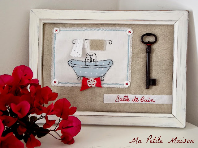 Freehand Machine Embroidery: bathroom