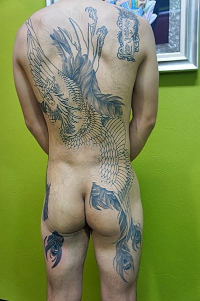 鳳凰 牡丹 刺青 タトゥー 和彫り TATTOO