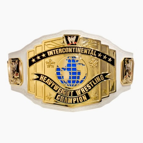 old WWF Intercontinental title square white strap colors