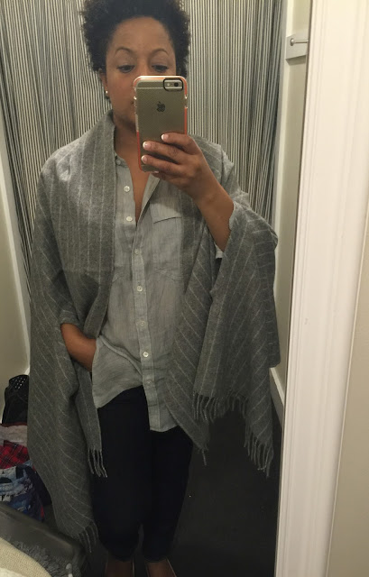 gray stripe scarf