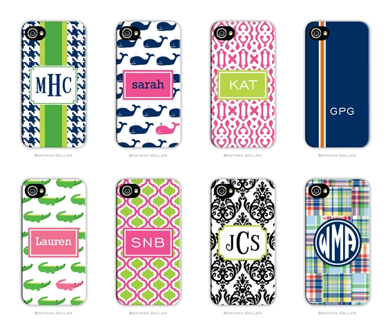 happynotes and more   preppy talk  monogrammed cell phone cases from boatman geller