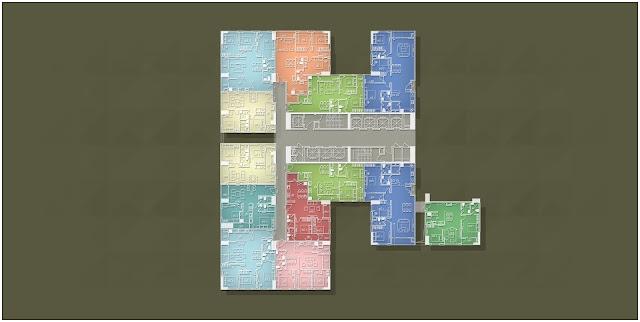 Mặt bằng căn hộ Imperia Garden Tháp B tầng 3 đến tầng 7