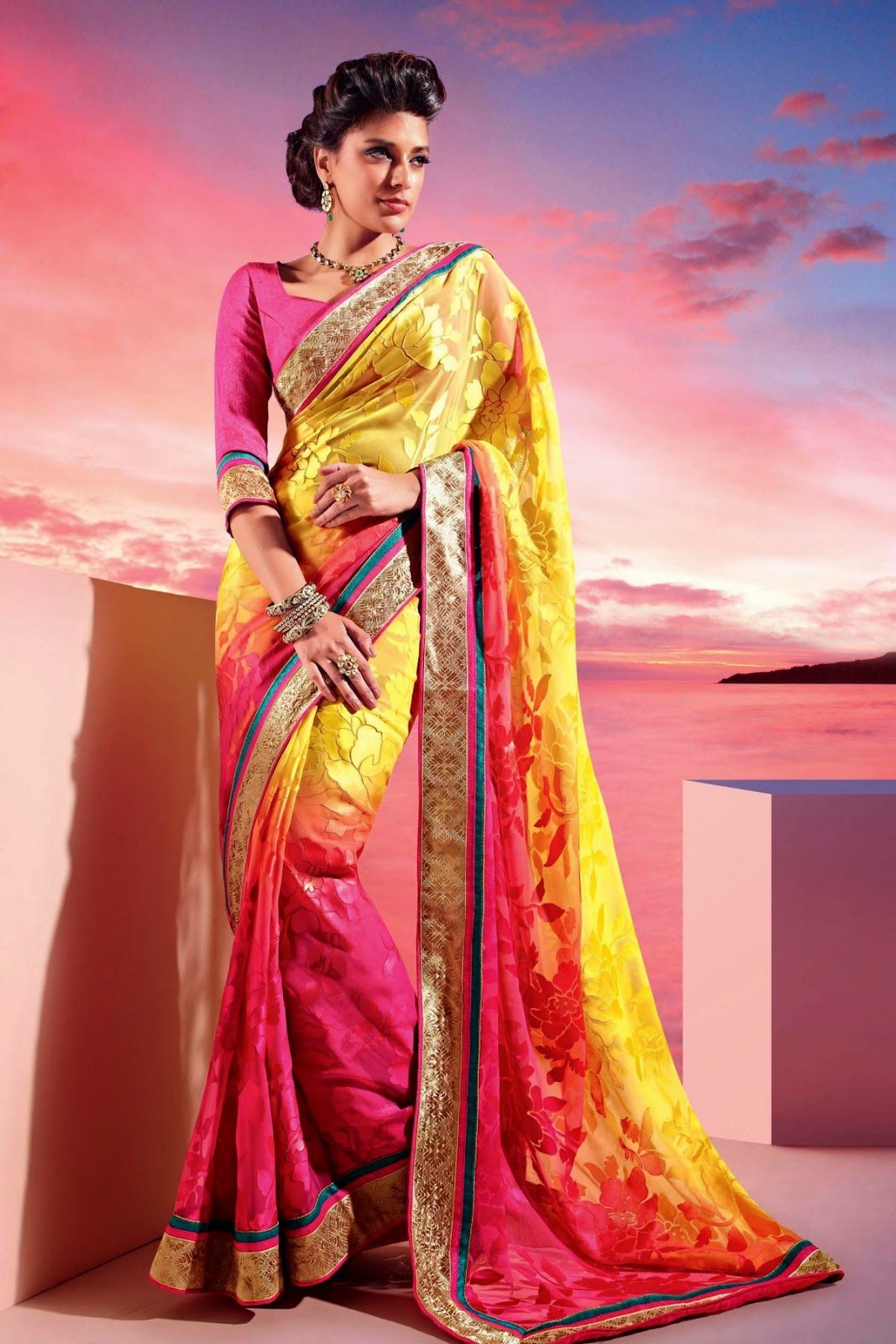 Khoobsurat saree collections, Indian saree collections, Latest saree collections, Sonam kappor collections, zohraa.com saree