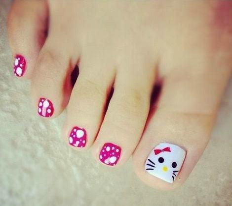 Hermosos decorados para uñas de los pies, bonitas, hermosas | Amor ...