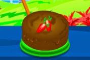 receita de bolo de chocolate de Ano Novo