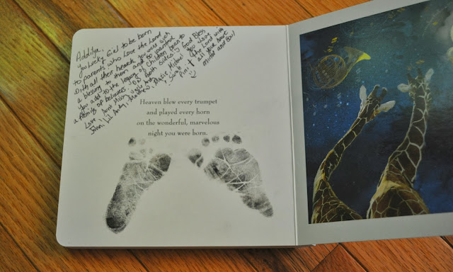 footprints and signature for baby book