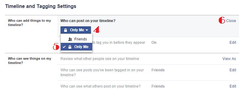Facebook Timeline Setting