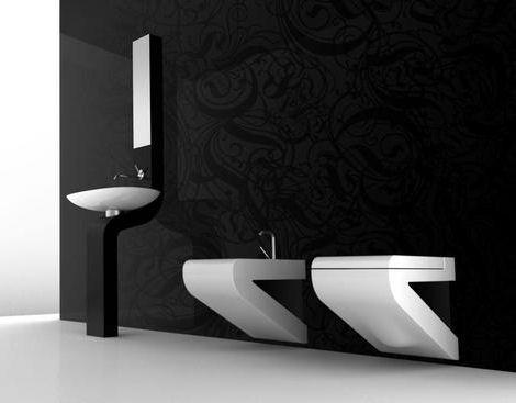 Italian Design Bathroom : Italian bathroom design with dramatic color scheme ~ Home Design ...