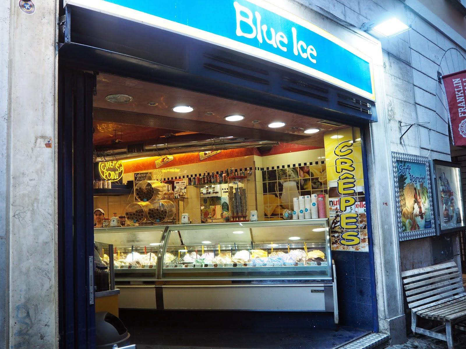 blue ice, gelateria, ice cream, ice cream shop, jäätelöbaari, rooma, roma, rome, italia, italy, matka, travel, jäätelö kioski, navona, piazza, campo de fiori, piazza navona, blue ice, pistaasi jäätelö pistacchio ice cream,