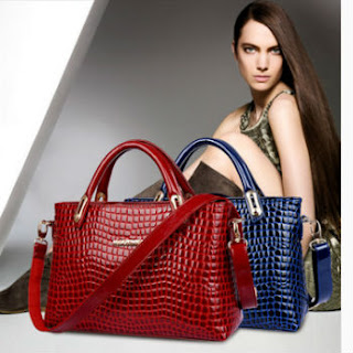 women crocodile handbag
