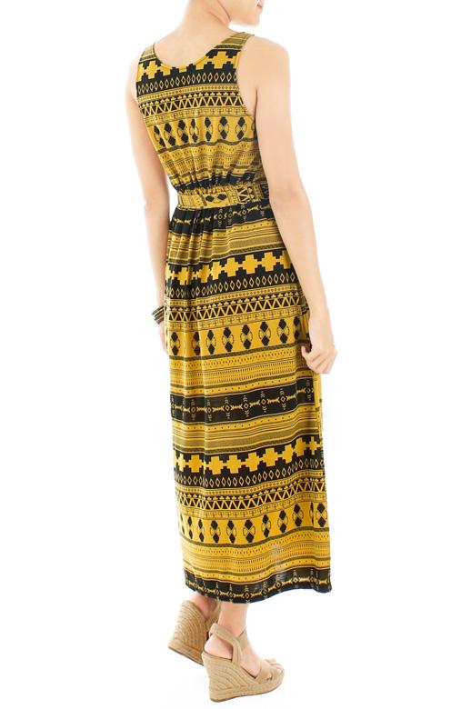 Lost Tribal Maxi Dress - Yellow