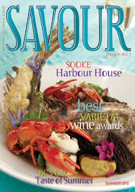 My cards mentioned in SAVOUR Summer 2012 page 35