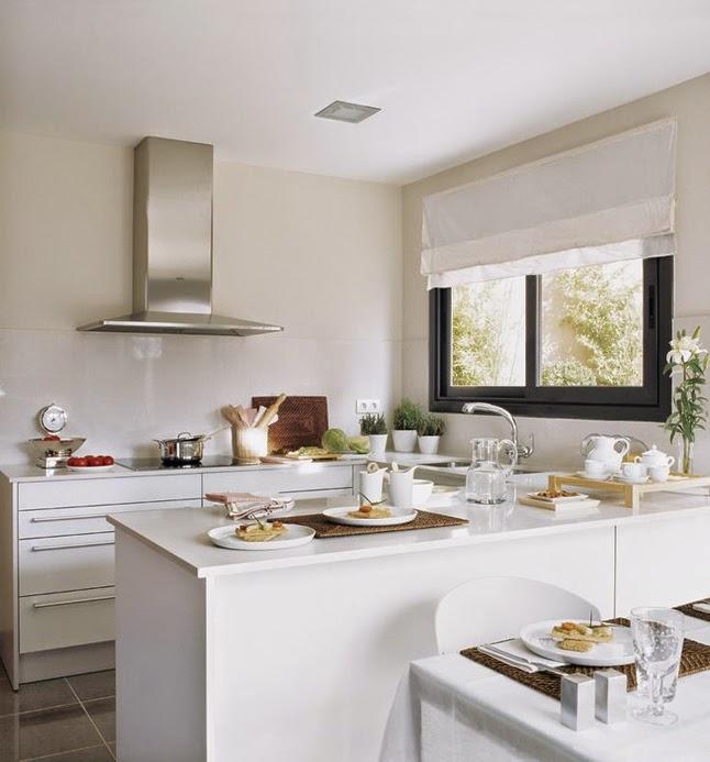 Ideas deco cocinas abiertas en espacios peque os sorteo for Cocinas modernas blancas precios