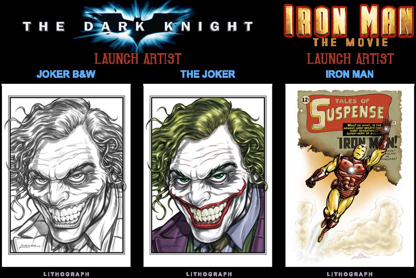 Joker bw - colour - Iron Man