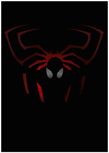 Lily's Factory ilustrações quadrinhos super heróis marvel dc sombras minimalistas Homem-Aranha