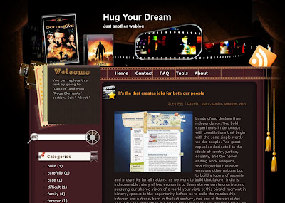 hug-your dream template blogger