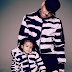 Chris Brown and his daughter wear matching outfits