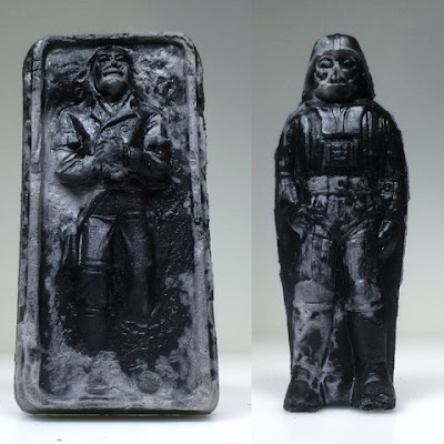 "Star Wars ""Relics"" Resin Figure Series 2 by HealeyMade - Captain (Prisoner) (aka Han Solo in Carbonite) & Dark Lord (Version II)"