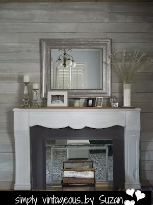 painted mantel makeover