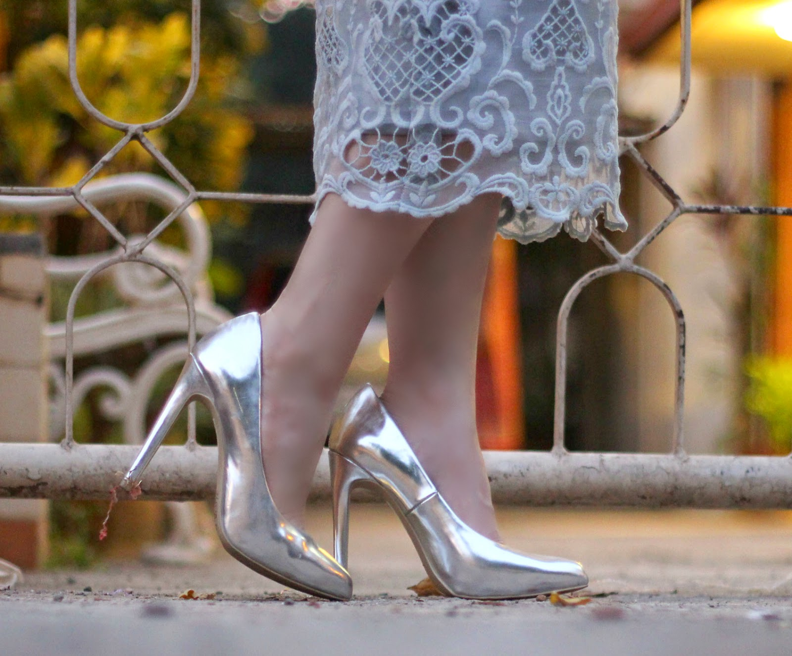 Forever 21 Silver Pumps