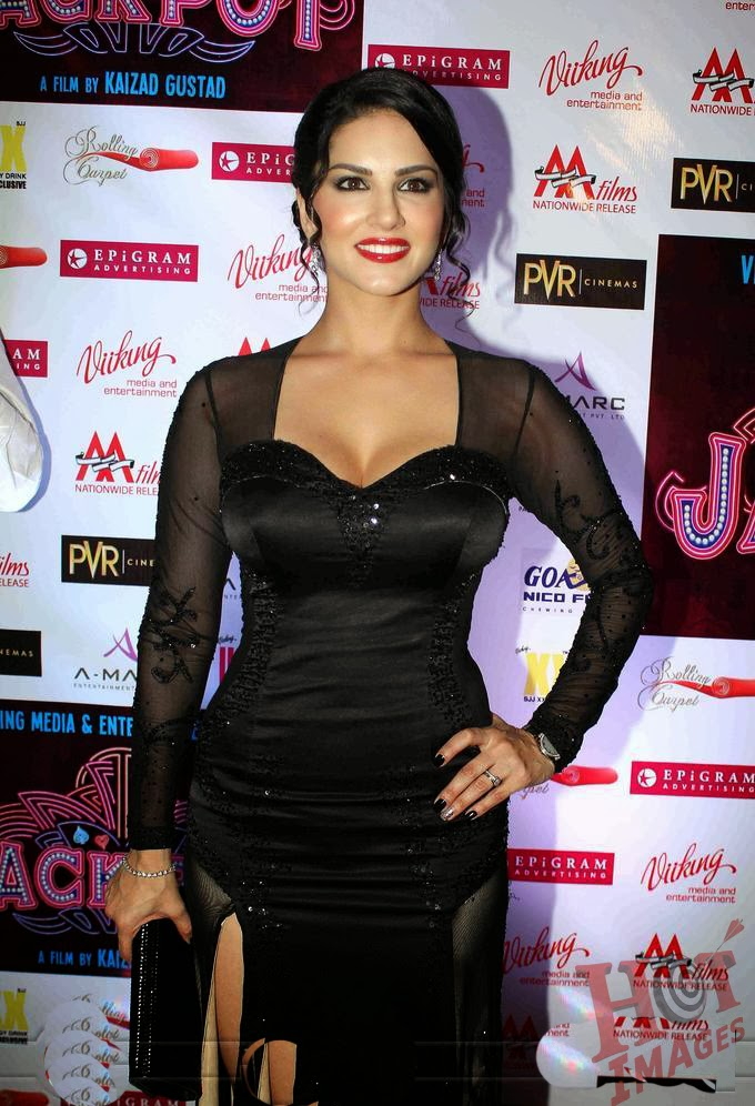 Sunny Leone pictures in black dress