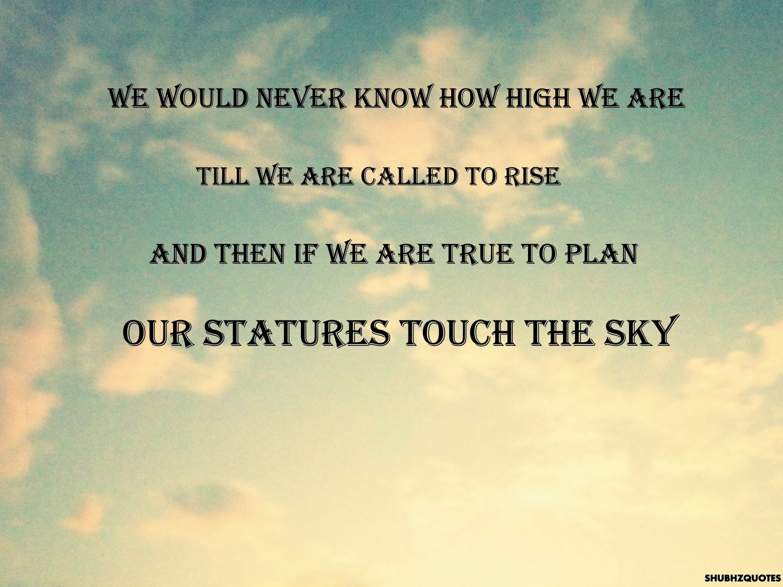 sky quote high clouds - Polling For English Literature Competition October 2014