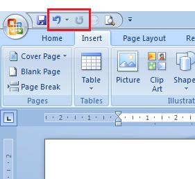 Cara pasang menu undo, redo pada toolbar ms word