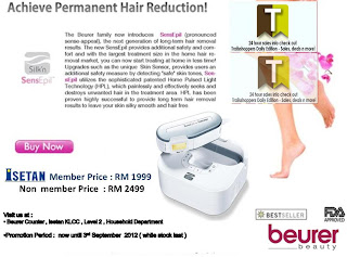 Beurer Permanent Hair Reduction Sale 2012