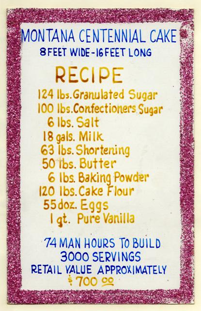1964 Centennial Cake recipe