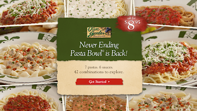 One savvy mom nyc area mom blog olive garden 39 s never ending pasta bowl is back review for Olive garden endless pasta bowl