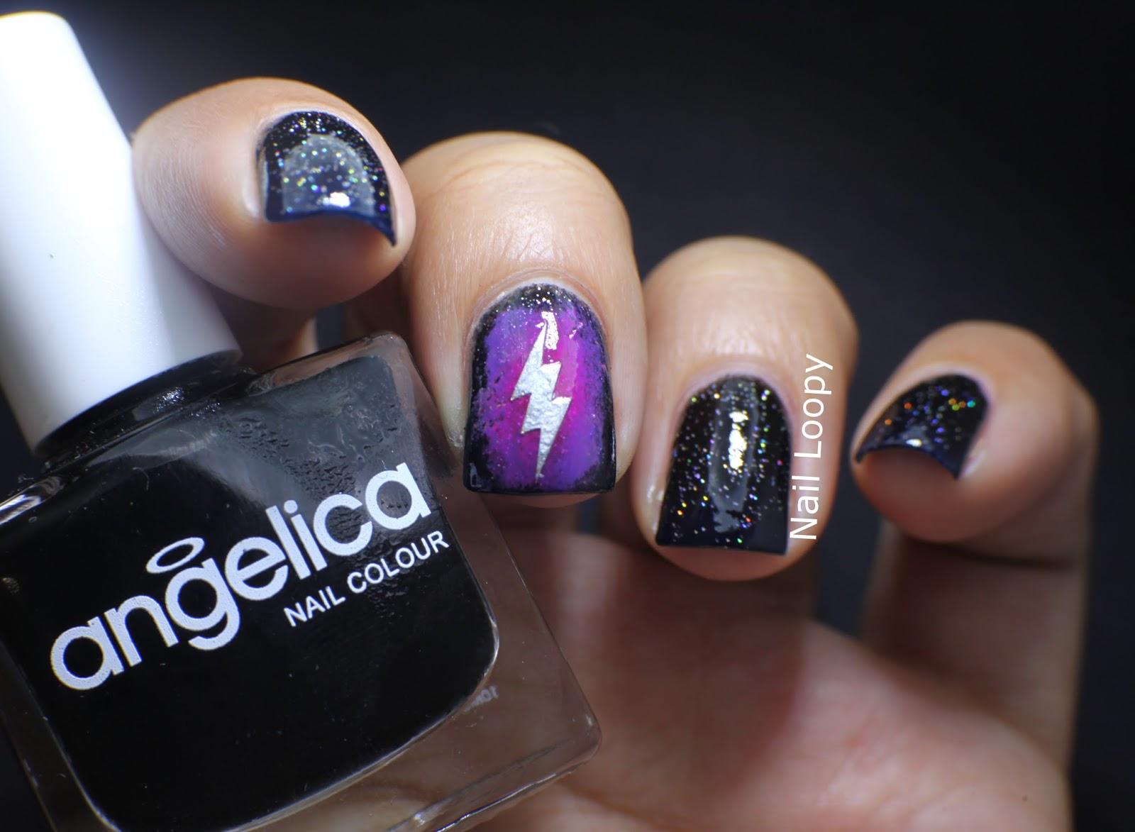 My Blog Verwandt Mit Lightning: Nail Loopy: LIGHTNING NAILS