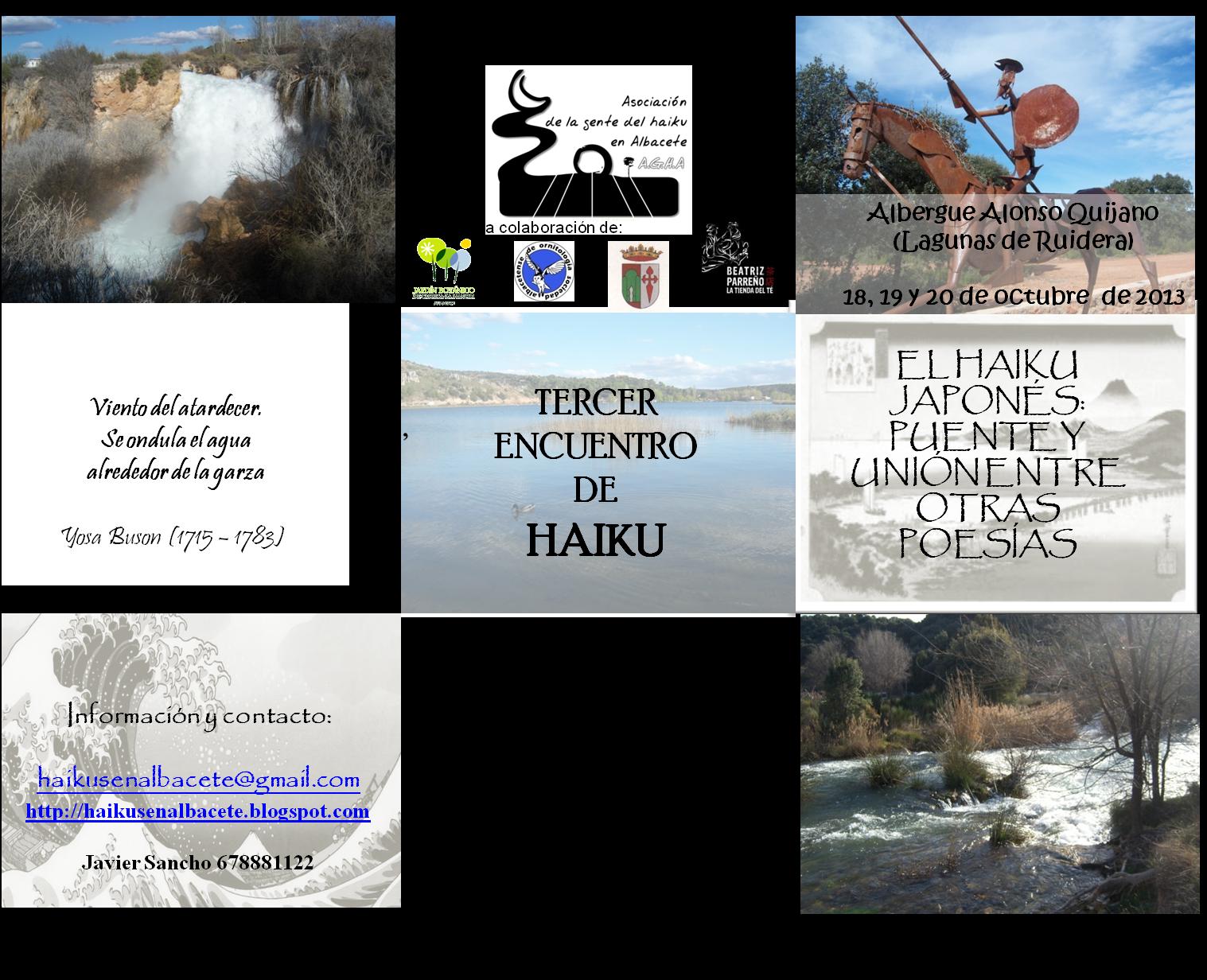 Tercer Encuentro de Haiku - Lagunas de Ruidera (Albacete) 2013