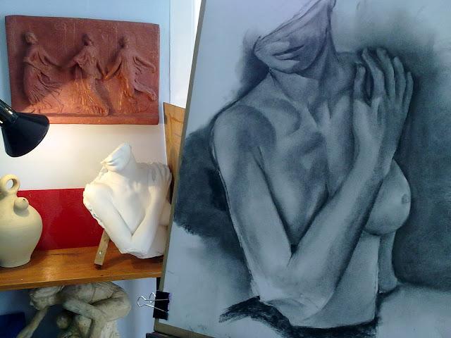 estudio de arte orzan,carboncillo