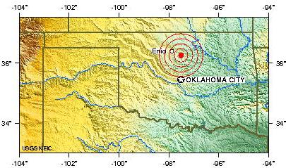 OKLAHOMA USA earthquake 2012 November 17