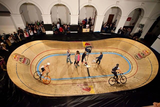 Picture shows the Red Bull minidrome during the ECMC 2012 in Edinburgh, Scotland
