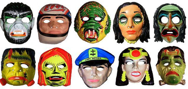 1970s plastic masks
