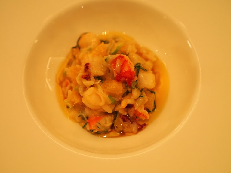 lobster risotto and orange
