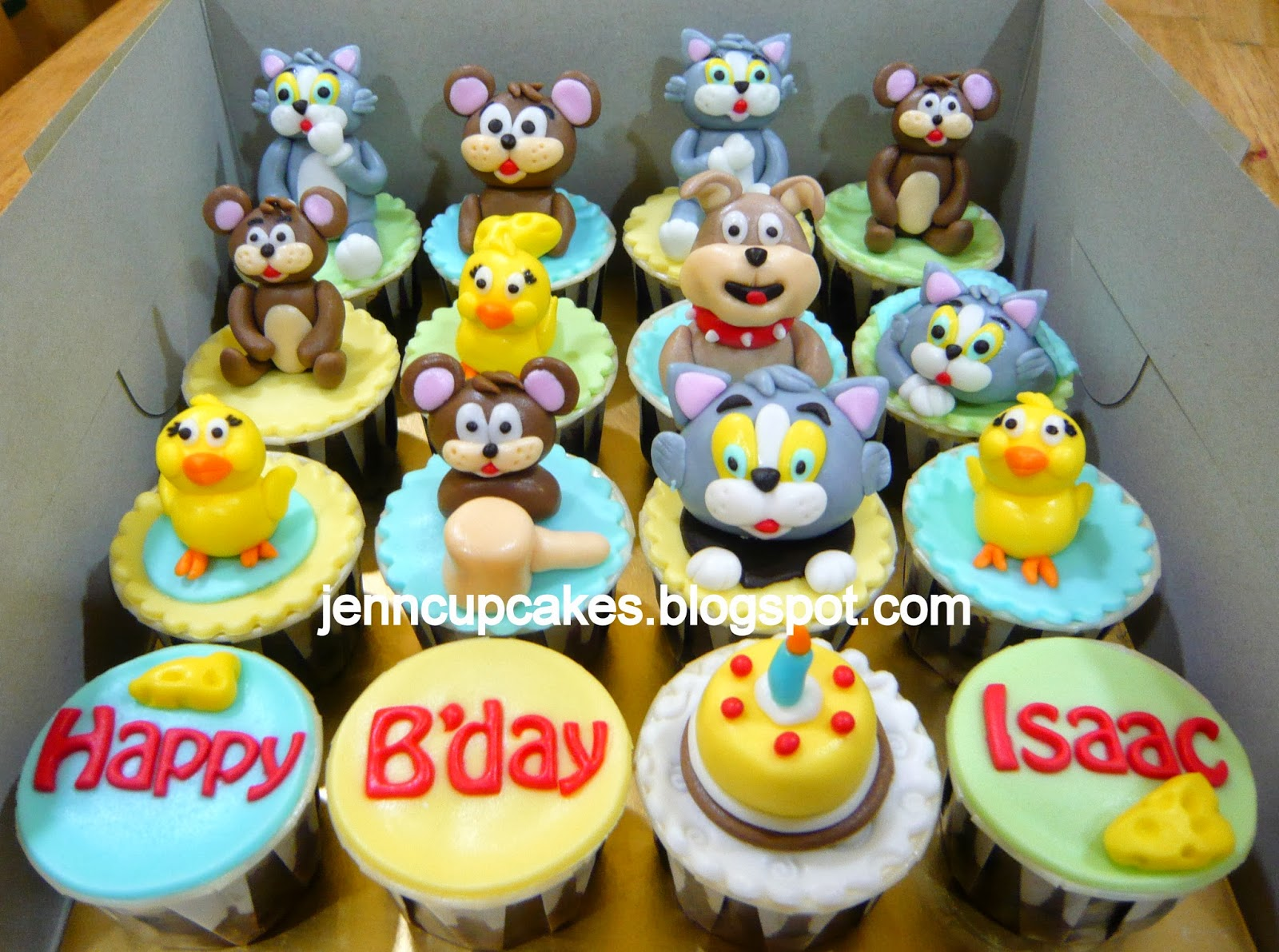Jenn Cupcakes Muffins Tom Jerry Cupcakes