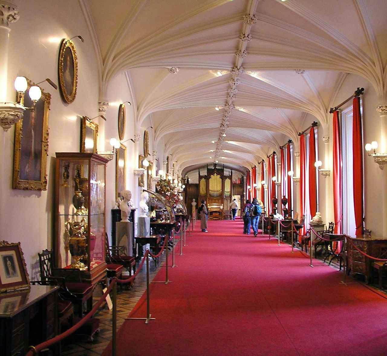 Galeria no castelo de Scone, Perth, Escócia