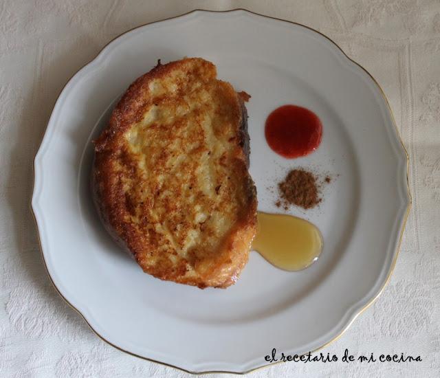 Torrijas con pan casero