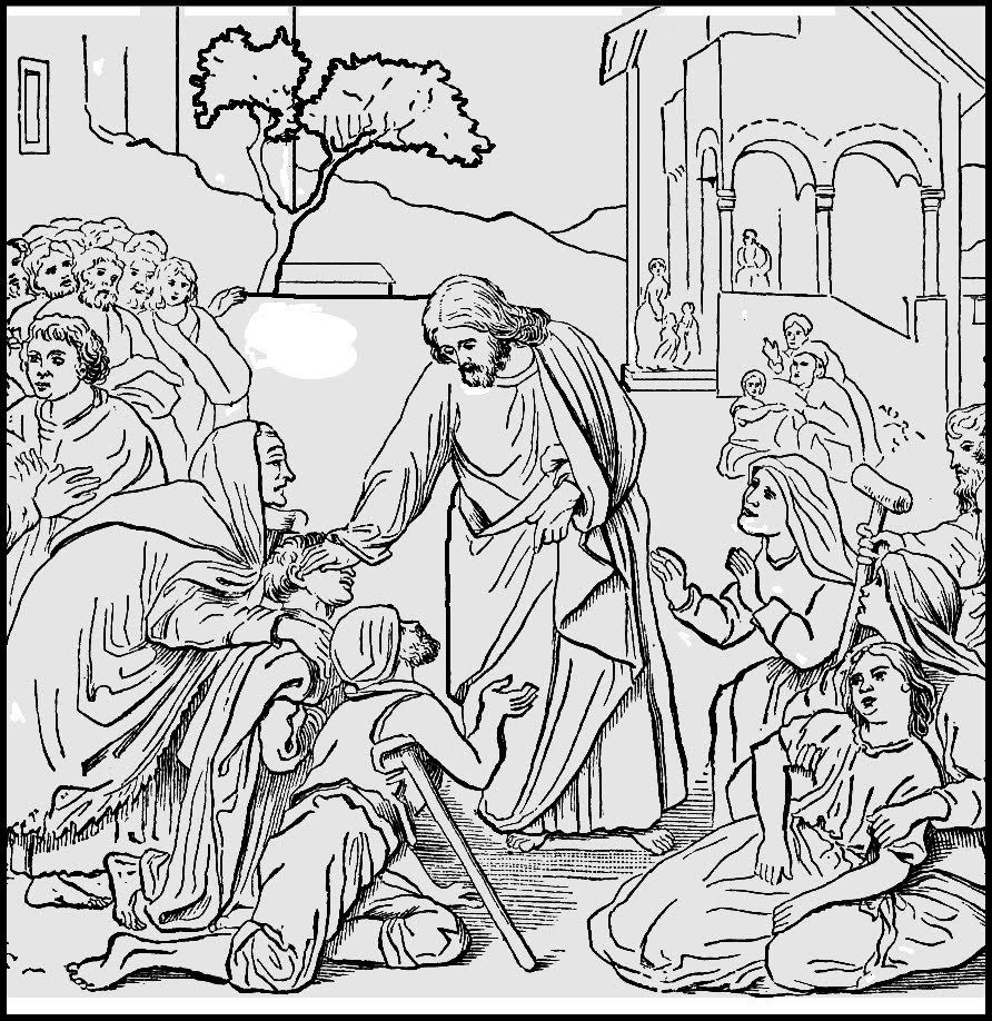 Free Coloring Pages Of Healing Of Naaman Ten Lepers Coloring Page