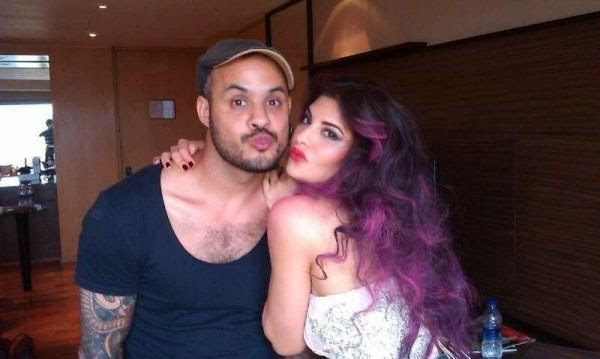 Jacqueline Fernandez snapped with make-up artist Daniel Bauer