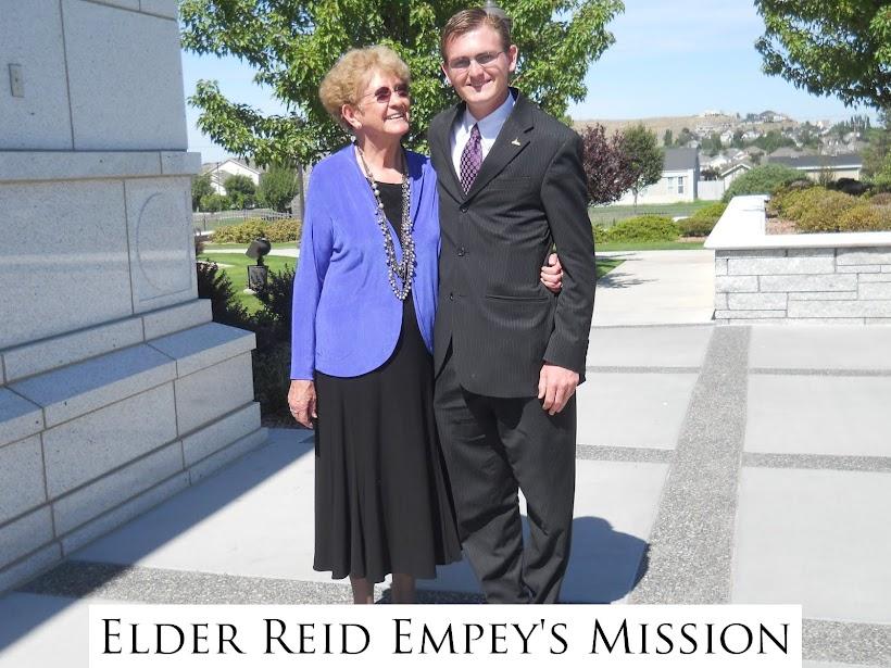 Elder Reid Empey's Mission